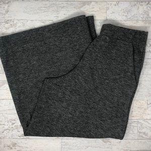 Zara Trafaluc Knit Cropped Flare Culotte Pants